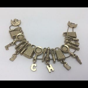 LE CHEF KITCHEN TOOLS SLIDE CHARMS BRACELET